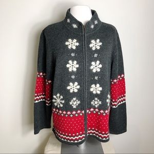 Guide Series Snowflake Nordic Fair Isle Sweater